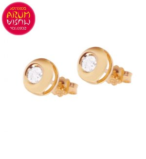 18K Rose Gold Earrings with Diamond 0,10 cts. RAJ1037