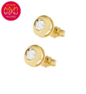 18K Yellow Gold Earrings with Diamond 0,10 cts. RAJ1045