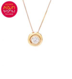 Chain and Pendant 18K Rose Gold Diamond 0.05 cts RAJ1059
