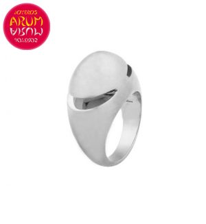 Bulgari Cabochon Ring White Gold RAJ1091