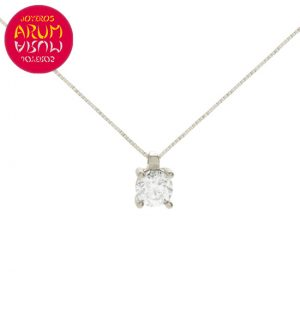 Chain and Pendant 18K White Gold with Diamond 0,40 cts. RAJ1138