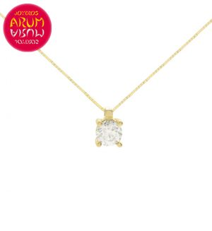 Chain and Pendant 18K Yellow Gold with Diamond 0,15 cts. RAJ1128
