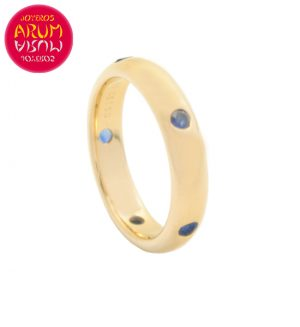 Cartier Ring Yellow Gold with 5 Sapphires RAJ1147