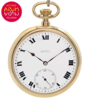 Movado Pocket Watch 18K Gold Shop Ref. 4420/1144