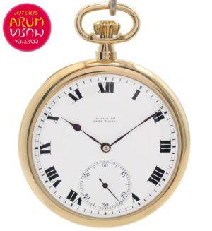 Movado Pocket Watch 18K Gold Shop Ref. 4420/1144
