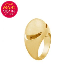 Bulgari Cabochon Ring Yellow Gold RAJ1168