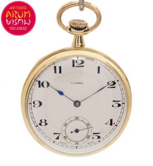 Coppel Pocket Watch 18K Gold Shop Ref. 4643/1265