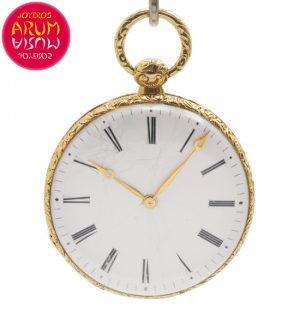 Jules Jacot Pocket Watch 18K Gold Shop Ref. 4654/1276