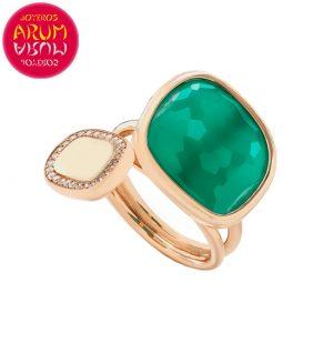 Roberto Coin Ring Rose Gold Diamonds Agate RI1011