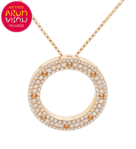 Chain and Pendant Roberto Coin Gold and Diamonds CL1134