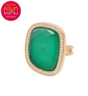 Roberto Coin Ring Rose Gold Diamonds Agate RI1231