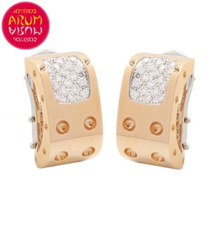 Roberto Coin Earrings Rose Gold with Diamonds EA0519
