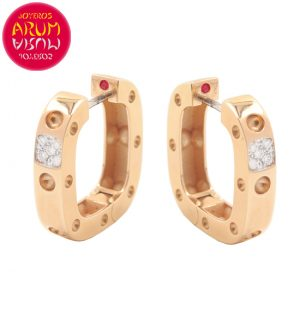 Roberto Coin Earrings Rose Gold with Diamonds EA0969