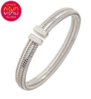Roberto Coin Bracelet 18K White Gold and Diamonds BA2476B