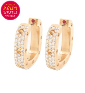 Roberto Coin Earrings Rose Gold with Diamonds EA1060