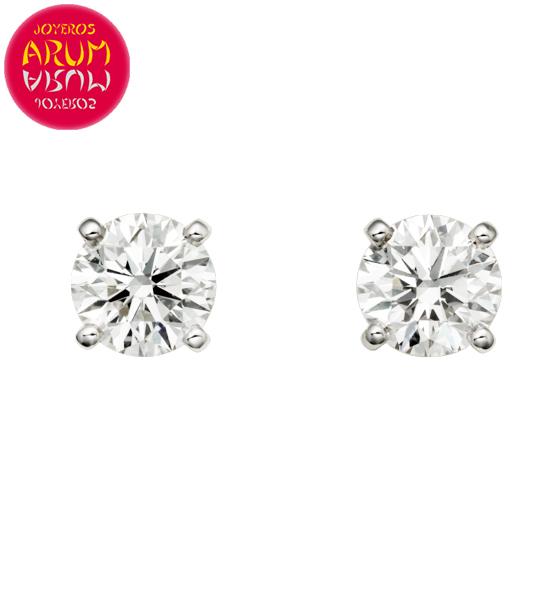 en venta a02c7 87d92 Pendientes Cartier Oro Blanco de Brillantes 0,45 qts. RAJ1240