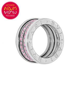 Bulgari B.zero1 Ring White Gold Pink Sapphires RAJ1268