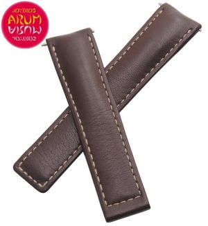 Z Tag Heuer Strap Brown Leather Deployant 19mm RAC1205