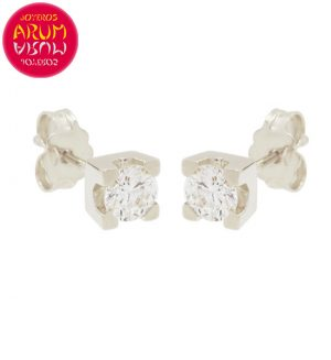 Earrings White Gold with Diamonds 0.48 cts. RAJ1317