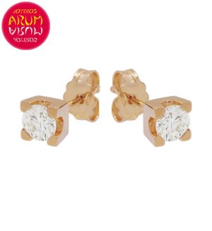 Earrings Rose Gold with Diamonds 0.48 cts. RAJ1319