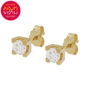 Earrings Yellow Gold with Diamonds 0.48 cts. RAJ1318