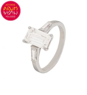 White Gold Ring with Baguette 1.55 ct. RAJ170S