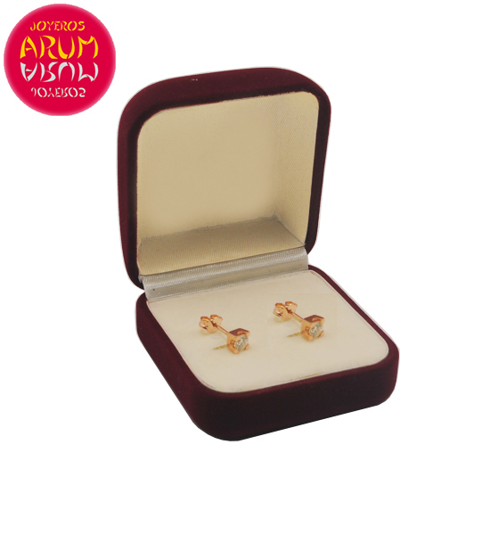 Rose Gold Earrings with Diamonds 0.21 cts. RAJ1310