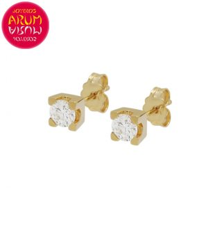 Yellow Gold Earrings with Diamonds 0.21 cts. RAJ1309