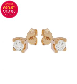 Rose Gold Earrings with Diamonds 0.43 cts. RAJ1316