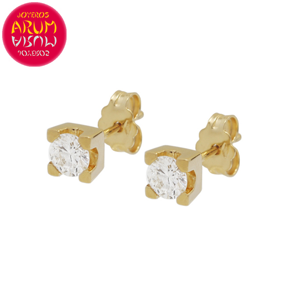 Yellow Gold Earrings with Diamonds 0.43 cts. RAJ1315