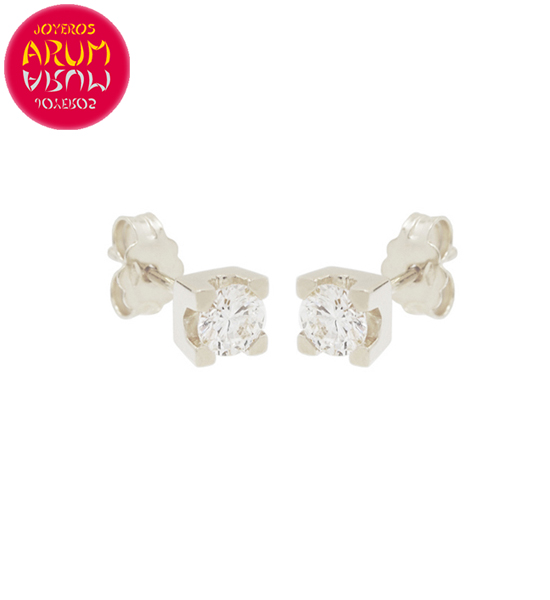 White Gold Earrings with Diamonds 0.28 cts. RAJ1311