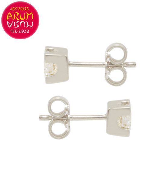 White Gold Earrings with Diamonds 0.21 cts. RAJ1308