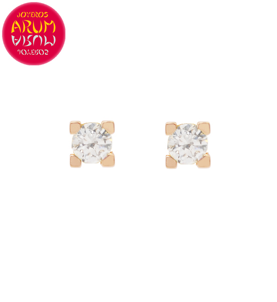 Rose Gold Earrings with Diamonds 0.28 cts. RAJ1313
