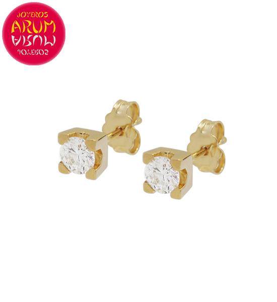 Yellow Gold Earrings with Diamonds 0.28 cts. RAJ1312