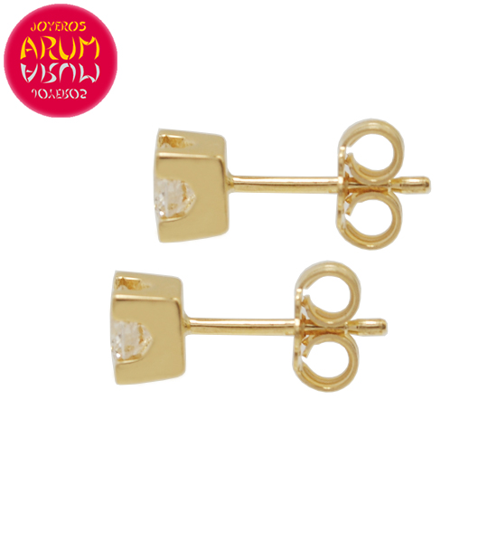 Yellow Gold Earrings with Diamonds 0.28 cts. RAJ1312