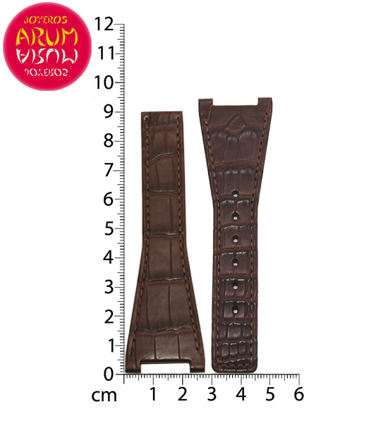 Z Omega Deployant Strap Crocodile Leather 28-16 RAC1366