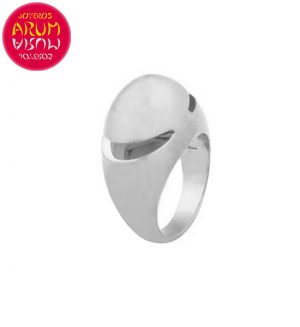 Bulgari Cabochon Ring White Gold RAJ381