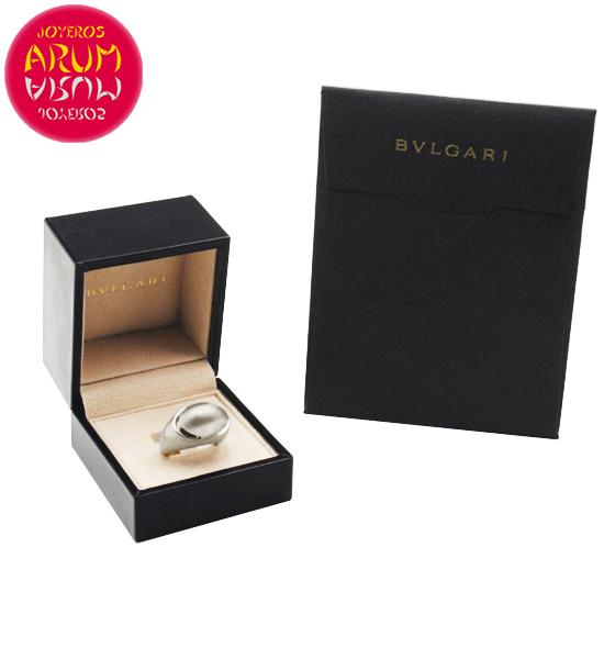 Bulgari Cabochon Ring White Gold RAJ381