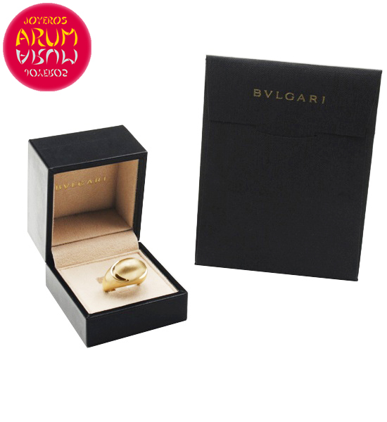 Bulgari Cabochon Ring Yellow Gold RAJ1382