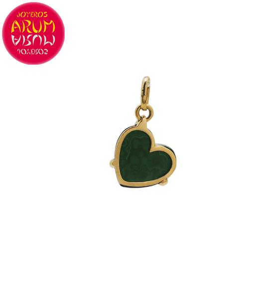 Pomellato Pendant Gold Heart Malaquite