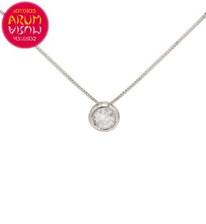 Chain and Pendant 18K Gold with Diamond 0.50 cts RAJ1459