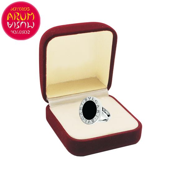 Bulgari Ring White Gold and Onyx RAJ1471