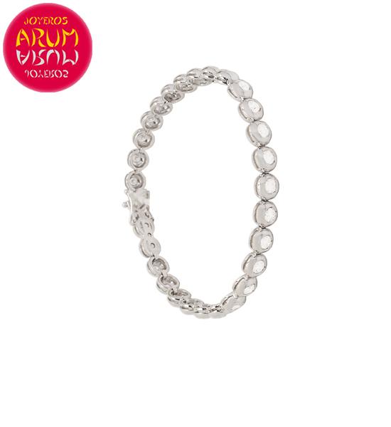 Riviere Bracelet Gold and Diamonds 4.11 ct. RAJ1523