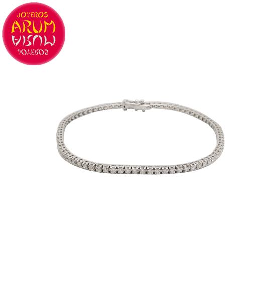 Riviere Bracelet Gold and Diamonds 1.50 ct. RAJ1527