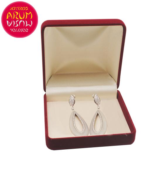 Suarez Earrings Gold Quartz and Diamonds RAJ1629